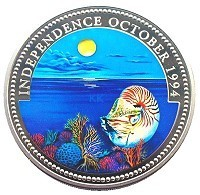 Palau Marine Life Protection 1992 2009 Set of 45 Coins