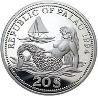 Palau Marine Life Protection 20$ ? Silver Color Coin