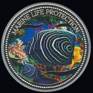 Marine Life Protection 20 Dollars 2005 Meerjungfrau - Kaiserfisch Mermaid - Koran Angelfish #006