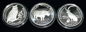Endangered Wildlife 50$ – Set of 3 Silver Coins #004