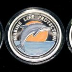 Lot von 3 Palau Farbmünzen 5 Dollars Silber 1995 1998 2000 Set of 3 Palau Color Coins 5$ Silver - Marine Life Protection