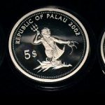 Lot von 3 Palau Farbmünzen 5 Dollars Silber 2001 - Set of 3 Palau Color Coins 5$ Silver - Marine Life Protection 2002