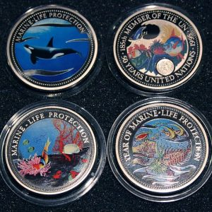 2003 1995 1994 1992 Mermaid Orka Orca Killer Whale 50 Years United Nations Clownfisch Nemofish Year Of Marine Life Protection